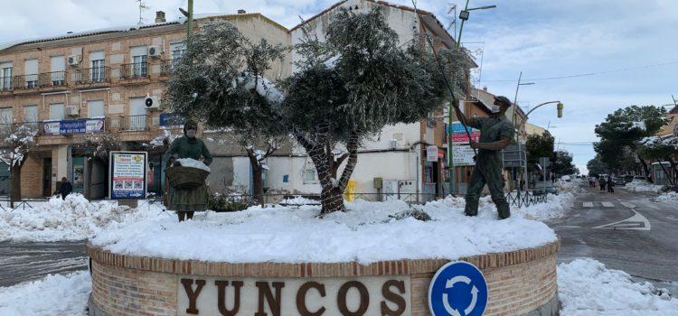 Año de nieves en Yuncos, Toledo.